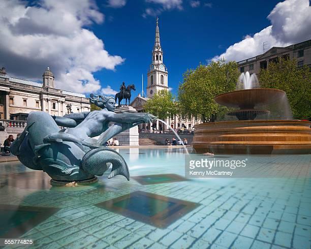 London - Trafalgar Square in spring