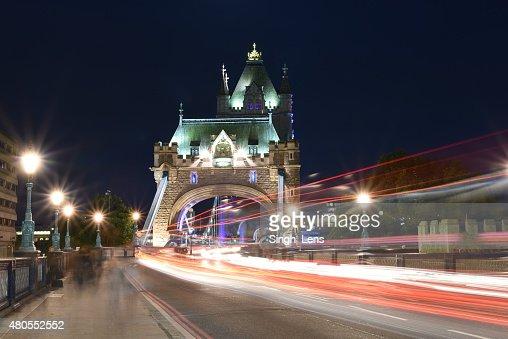 London, UK, Tower Bridge at night : Stock Photo