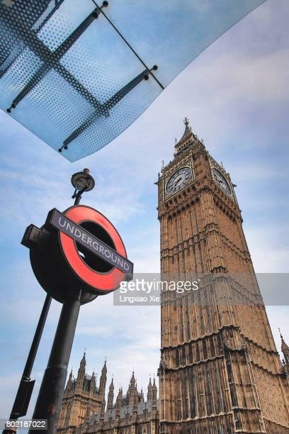 London Underground Sign with Big Ben