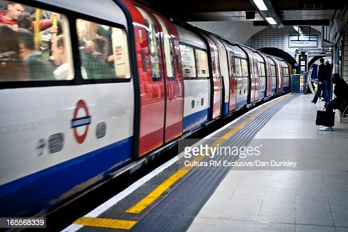 London underground tube at station
