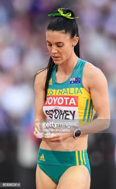 London United Kingdom 10 August 2017 Lora Storey of Australia following round one of the Women's 800m event during day seven of the 16th IAAF World...