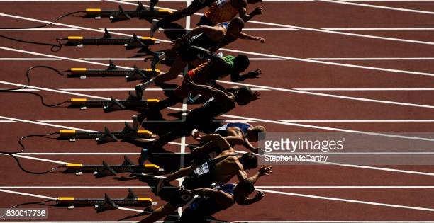 London United Kingdom 11 August 2017 Athletes during the Men's 100m Decathlon event during day eight of the 16th IAAF World Athletics Championships...