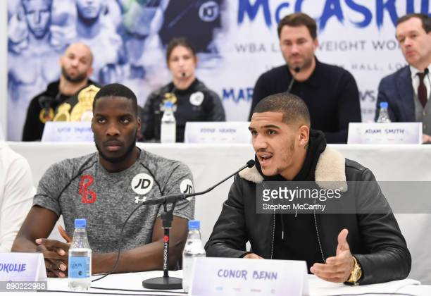 London United Kingdom 11 December 2017 Conor Benn during a press conference at the Courthouse Hotel in Shoreditch London ahead of his undercard bout...