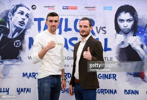 London United Kingdom 11 December 2017 Jake Ball left and Miles Shinkwin during a press conference at the Courthouse Hotel in Shoreditch London ahead...