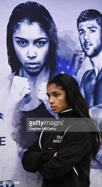 London United Kingdom 11 December 2017 Jessica McCaskill following a press conference at the Courthouse Hotel in Shoreditch London ahead of her WBA...