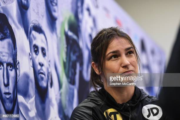 London United Kingdom 11 December 2017 Katie Taylor during a press conference at the Courthouse Hotel in Shoreditch London ahead of her WBA...