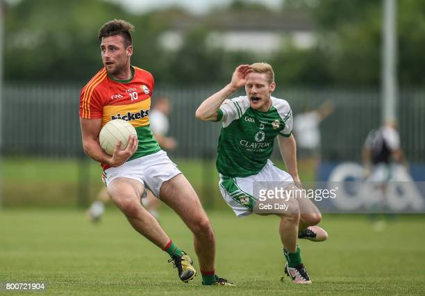 London United Kingdom 25 June 2017 Eoghan Ruth of Carlow in action against Danny Moran of Carlow during the GAA Football AllIreland Senior...