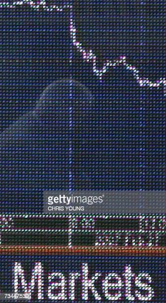 A business man's reflection is set in a financial information board in west London 28 February 2007 Europe's main stock markets extended heavy losses...