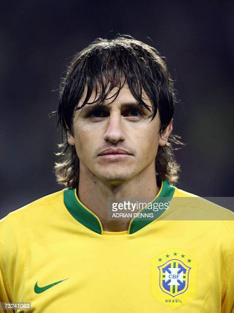 Brazilian footballer Edmilson is pictured before a friendly match against Portugal at The Emirates Stadium in London 06 February 2007 AFP PHOTO...