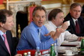 Britain's Prime Minister Tony Blair speaks at Lancaster House in central London at a extended Cabinet meeting to consider findings of six Policy...