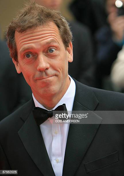 British actor Hugh Lawrie arrives at the British Academy Television Awards 2006 at the Grosvenor House Hotel in London 07 May 2006AFP PHOTO / ODD...