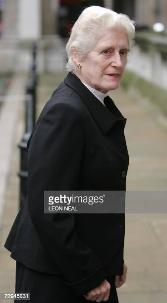 Dame Elizabeth ButlerSloss a former High Court judge arrives 08 January 2006 at the Royal Courts of Justice in London for the first day of the...