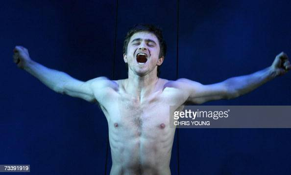 Daniel Radcliffe plays the part of Alan Strang in Peter Shaffer's play Equus at the Gielgud Theatre in central London 22 February 2007 Equus is a...