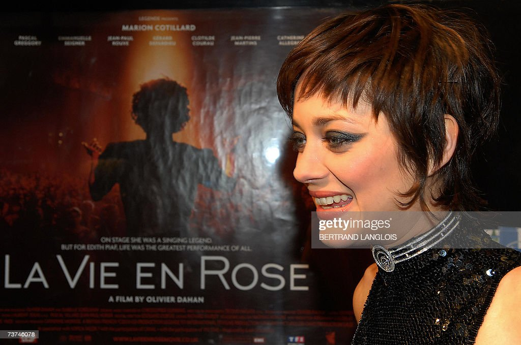 French actress <a gi-track='captionPersonalityLinkClicked' href=/galleries/search?phrase=Marion+Cotillard&family=editorial&specificpeople=215303 ng-click='$event.stopPropagation()'>Marion Cotillard</a> speaks at the opening ceremony of the 'Rendez-vous with French cinema' film festival in London, 29 March 2007. The opening gala features Olivier Dahan's film about French iconic singer Edith Piaf's dramatic life, 'La Vie en Rose.'