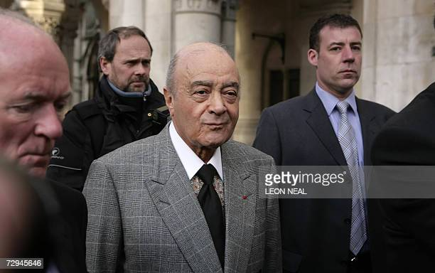 Harrods owner Mohamed Al Fayed arrives 08 January 2007 at the Royal Courts of Justice in London for the first day of the hearing following Lord...