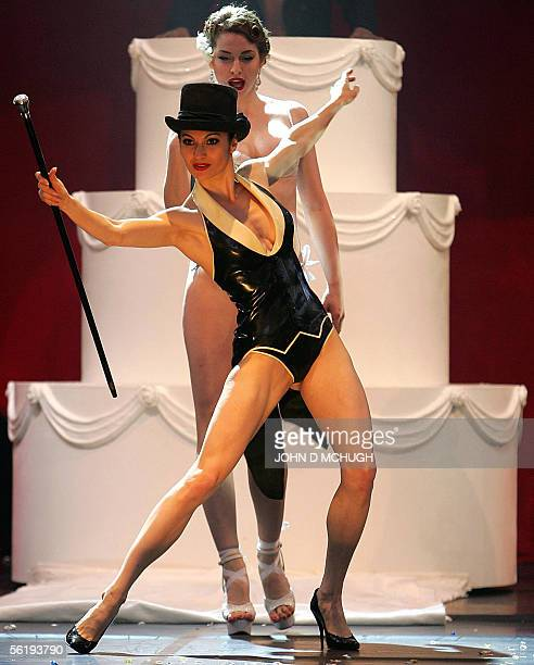 Performers from Torture Garden are seen during the stage show at the Erotica exhibition in London 17 November 2005 Earlier in the day members of the...