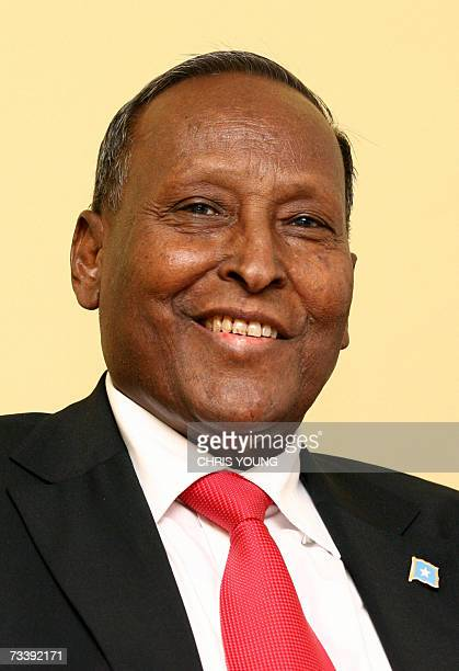 President of the transitional Somalian government Abdullahi Yusuf Ahmed gives a press conference at Chatham House in central London 22 February 2007...