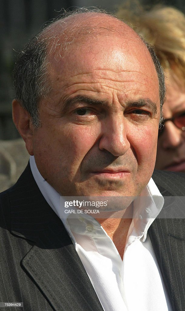 Russian businessman <a gi-track='captionPersonalityLinkClicked' href=/galleries/search?phrase=Boris+Berezovsky+-+Businessman&family=editorial&specificpeople=772839 ng-click='$event.stopPropagation()'>Boris Berezovsky</a> is pictured as he attends a memorial to murdered Russian political journalist Anna Politkovskaya, outside Westminster Abbey in London, 13 October 2006. Brazil has issued an arrest warrant for exiled Russian billionaire <a gi-track='captionPersonalityLinkClicked' href=/galleries/search?phrase=Boris+Berezovsky+-+Businessman&family=editorial&specificpeople=772839 ng-click='$event.stopPropagation()'>Boris Berezovsky</a> over money laundering allegations, his spokesman said Friday 13 July 2007. According to Russian news agencies, Brazil's federal court has ordered the arrest of Berezovsky, an outspoken critic of the Kremlin who was granted political asylum in Britain in 2003. AFP PHOTO/CARL DE SOUZA/FILES