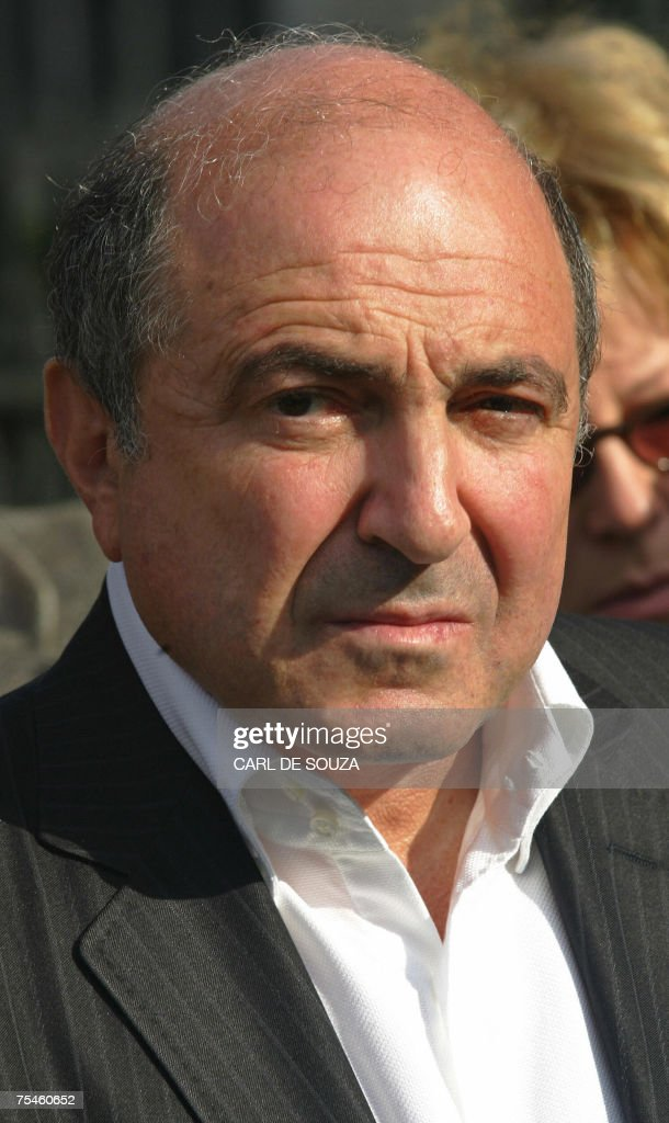Russian businessman <a gi-track='captionPersonalityLinkClicked' href=/galleries/search?phrase=Boris+Berezovsky+-+Businessman&family=editorial&specificpeople=772839 ng-click='$event.stopPropagation()'>Boris Berezovsky</a> is pictured as he attends a memorial to murdered Russian political journalist Anna Politkovskaya, outside Westminster Abbey in London, 13 October 2006. Berezovsky, the exiled Russian billionaire and fierce Kremlin critic, said Wednesday 18 July 2007, he temporarily fled Britain recently after police warned of a plot to kill him in London. He has since returned, but tensions remain high as Britain and Russia are locked in a standoff over demands for Moscow to extradite a man accused of the radioactive poisoning of former Russian agent Alexander Litvinenko. AFP PHOTO/CARL DE SOUZA/FILES
