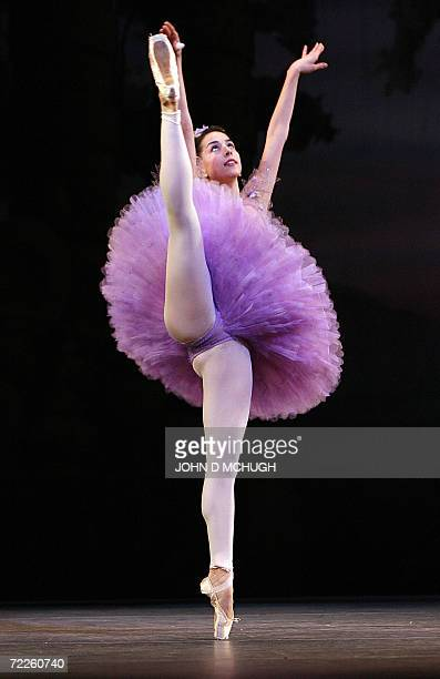US ballerina Alexandra Ansanelli of the Royal Ballet plays The Lilac Fairy during a dress rehearsal of The Sleeping Beauty at The Royal Opera House...