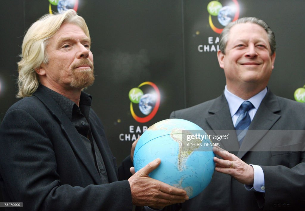 Sir Richard Branson bersama Al Gore