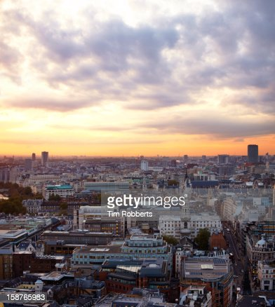 London view at sunset : Stockfoto