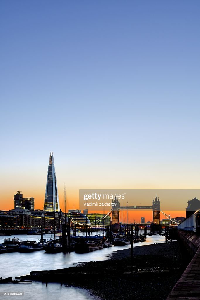 London view at sunset