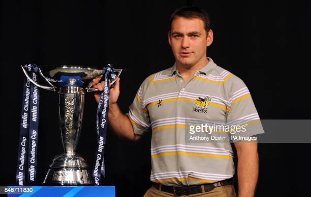 London Wasps' coach Trevor Woodman poses during the launch of the Heineken Cup and Amlin Challenge Cup season launch at Sky news studios London