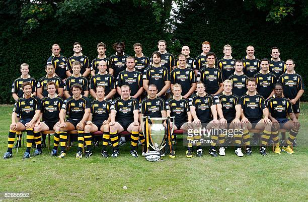 London Wasps team group during the London Wasps Photocall at Twyford Training Ground on June 22 2008 in London England