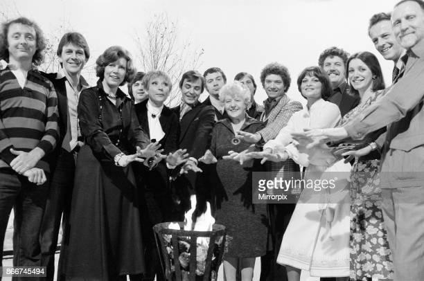 London Weekend Television photocall to introduce some of the shows they will be presenting on television this Christmas 12th December 1977 picture...