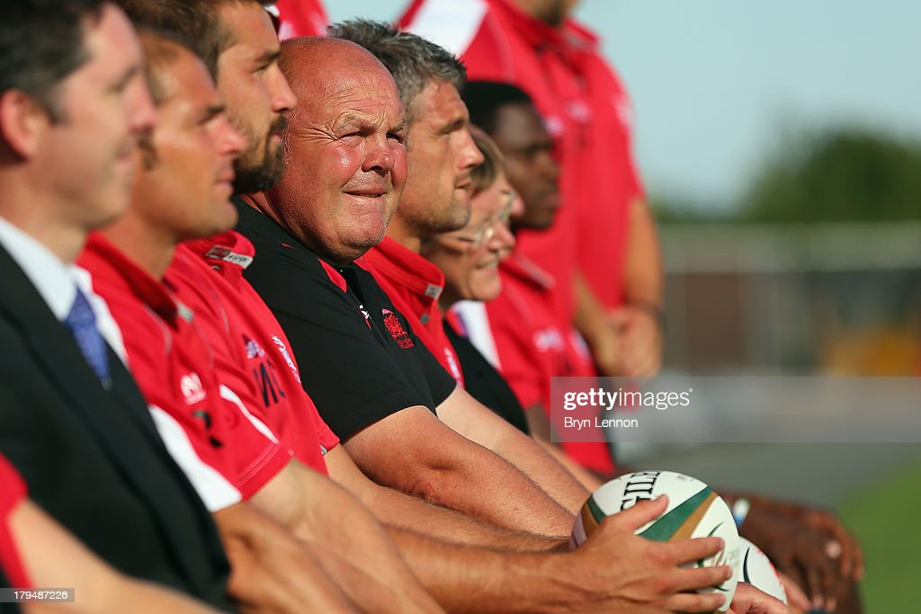 London Welsh Head Coach Justin Burnell looks on during a London Welsh Media Day at the Kassam Stadium on September 4, 2013 in Oxford, England.