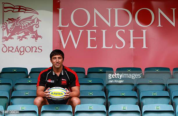 London Welsh new signing Gavin Henson poses during a photocall at Old Deer Park on July 10 2012 in Richmond England
