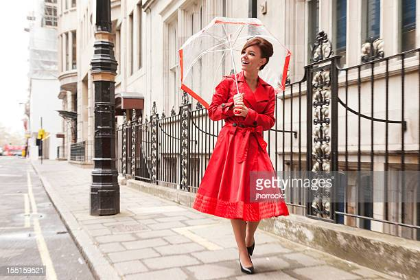 London Woman in Red