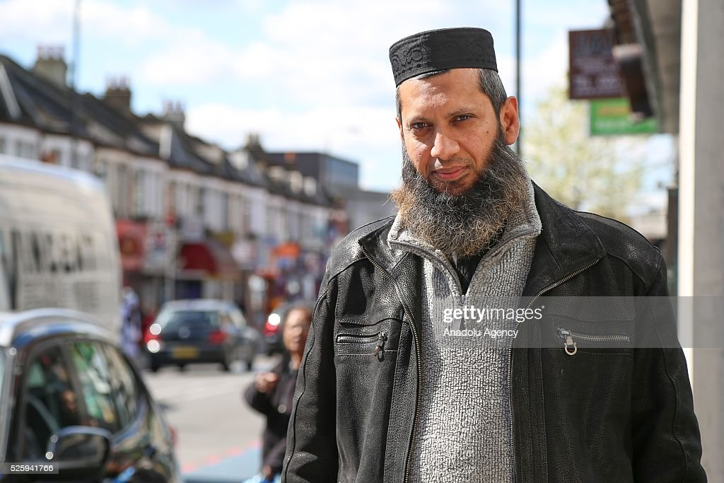 A London-based Muslim preacher Suliman Gani is seen during an exclusive interview on in London, United Kingdom on April 28, 2016. In the exclusive interview with Anadolu Agency, Suliman Gani said he was shocked by Prime Minister David Camerons allegations, which he described as racist and Islamophobic.