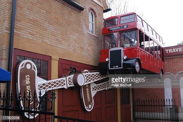 LondonBus im Themenland England 'Europa Park' Rust bei Freiburg BadenWürttemberg Deutschland Europa Freizeitpark Vergnügungspark Reise