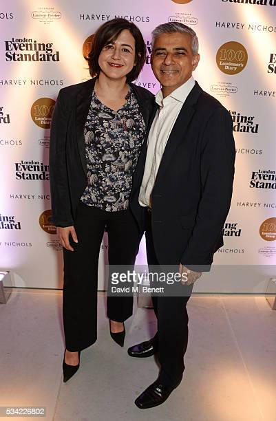 Londoner's Diary editor Joy Lo Dico and Mayor of London Sadiq Khan attend the London Evening Standard Londoner's Diary 100th Birthday Party in...