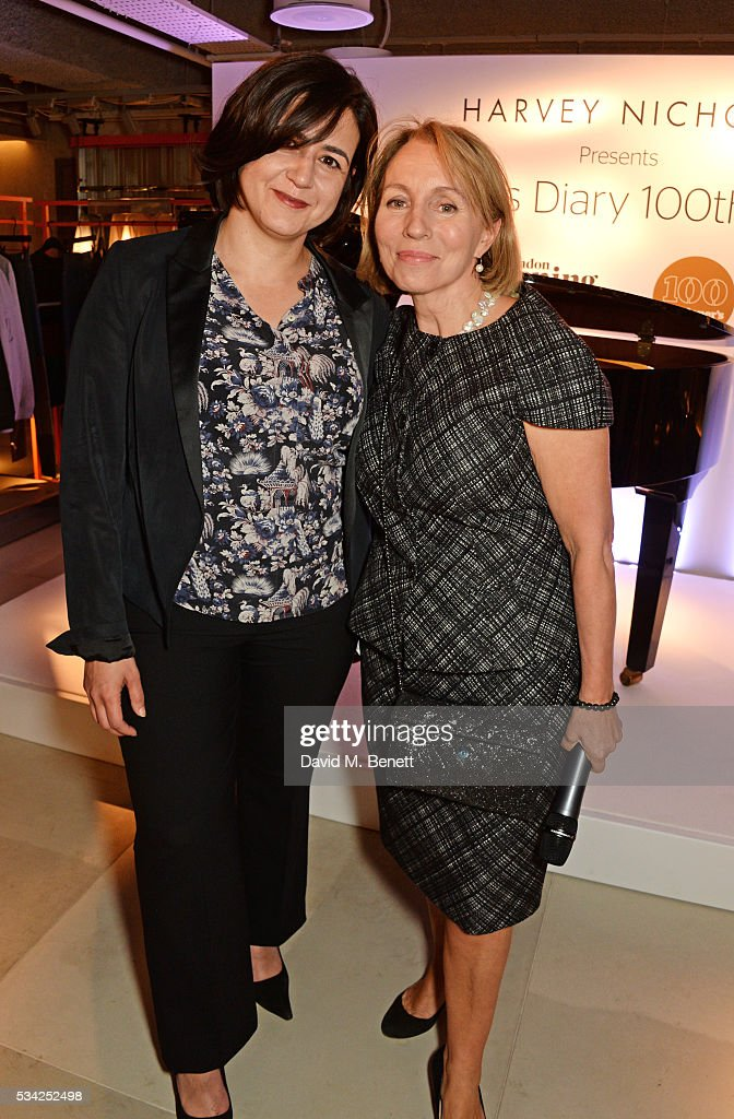 Londoner's Diary editor Joy Lo Dico (L) and Sarah Sands, Editor of the London Evening Standard, attend the London Evening Standard Londoner's Diary 100th Birthday Party in partnership with Harvey Nichols at Harvey Nichols on May 25, 2016 in London, England.