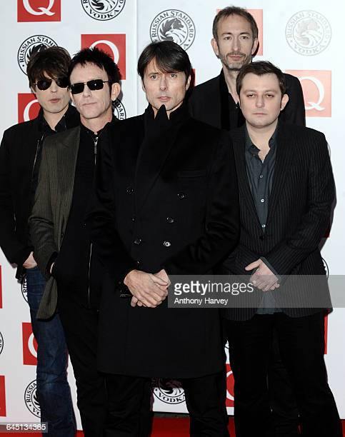Brett Anderson Neil Codling Simon Gilbert Richard Oakes and Mat Osman of Suede attend the 'Q Awards' at Grosvenor House Hotel on October 25 2010 in...