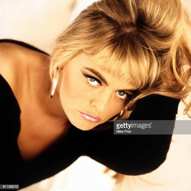 Patsy Kensit singer with Eighth Wonder posed in London in 1986