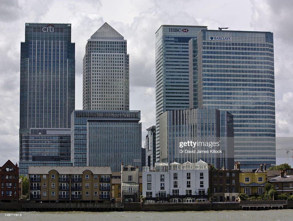 Londons banking center : Stock Photo