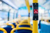 London's double decker bus stop button for getting off.