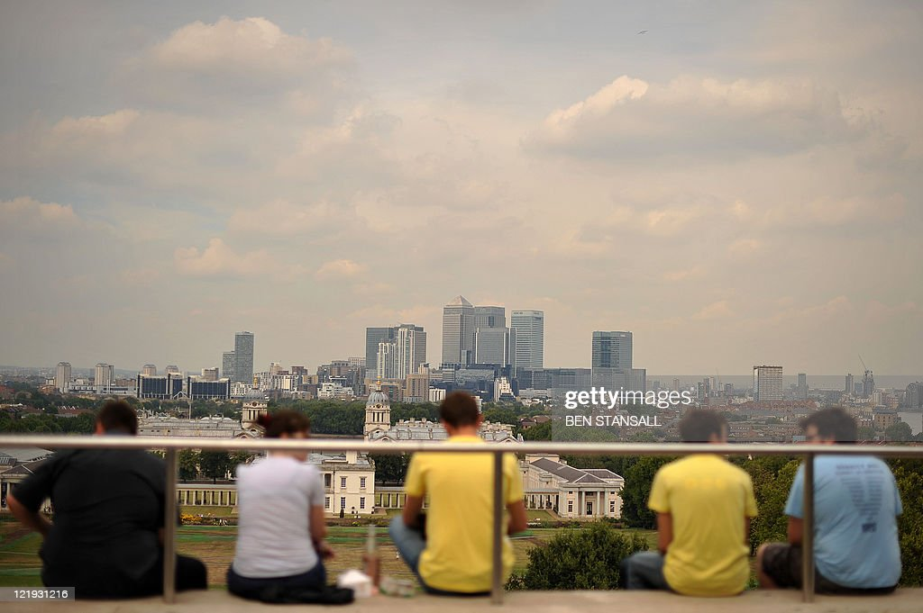 London's financial district also known as Canary Wharf is pictured in east London on August 19 2011 London's main stock index slumped by more than 30...