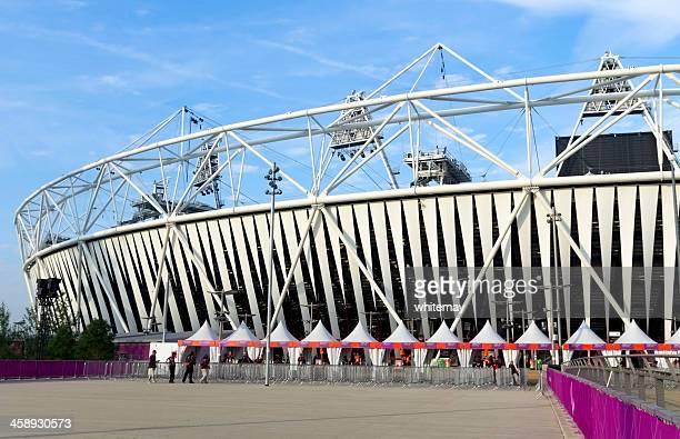 London's Olympic Stadium, early morning