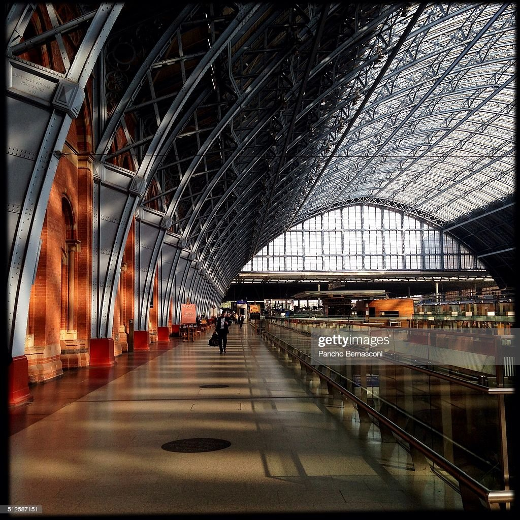London's St Pancras train station It serves as the terminus for the Eurostar trains serving Paris Brussels among others destinations