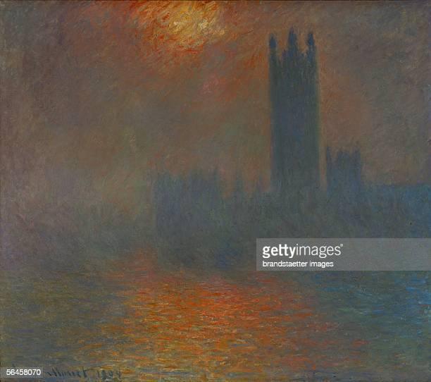 Londres le Parlement trouee de soleil London Parliament sun breaking through the clouds Oil on canvas 1904 [Londres le Parlement trouee de soleil...