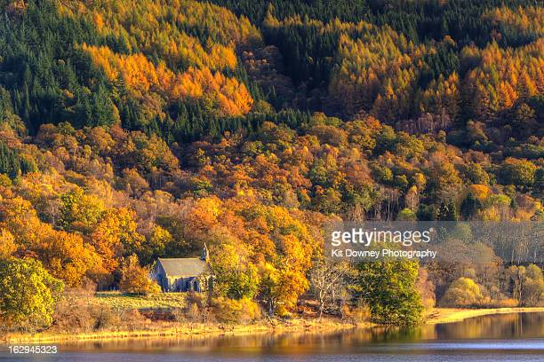 Lone Church Surrounded By Autumnal Colours