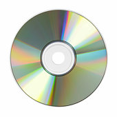 CD close-up isolated over white background