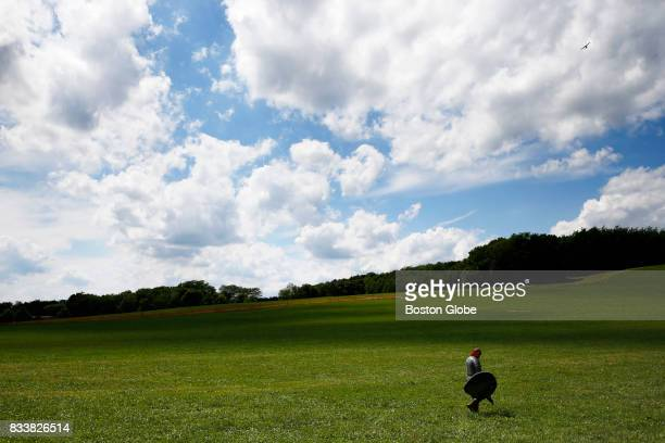 A lone fighter makes his way across the field for the days second battle at Ragnarok XXXII on June 21 2017 For one week each summer the World has...