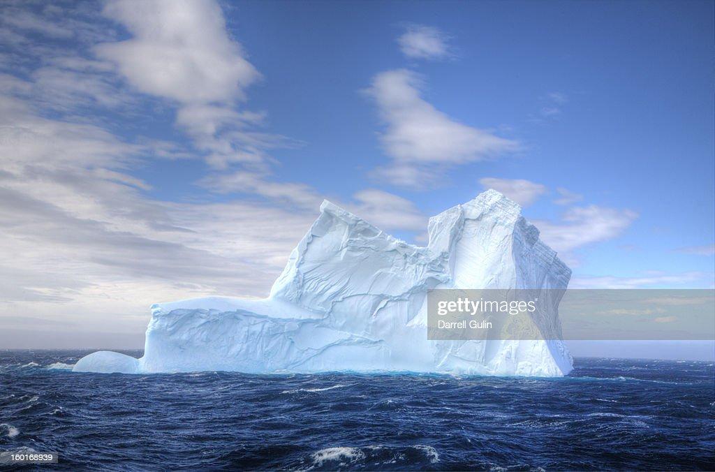 Lone Iceberg just off coast of South Georgia : Stock Photo