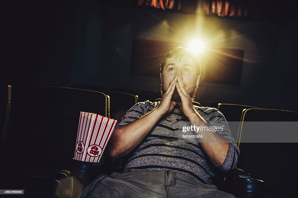 Lone man at the movies